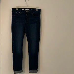 Cuffed skinny jean